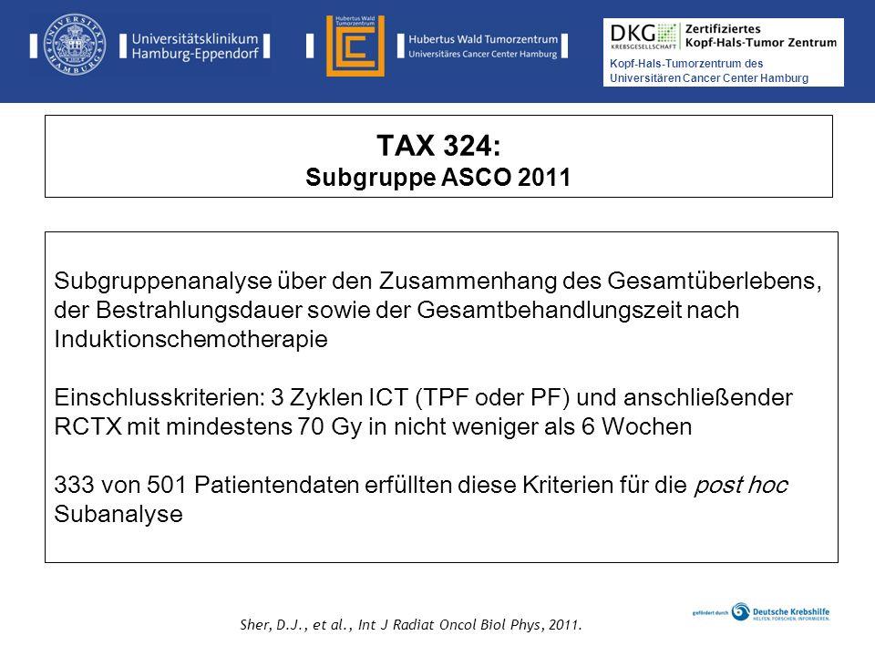 TAX 324: Subgruppe ASCO 2011
