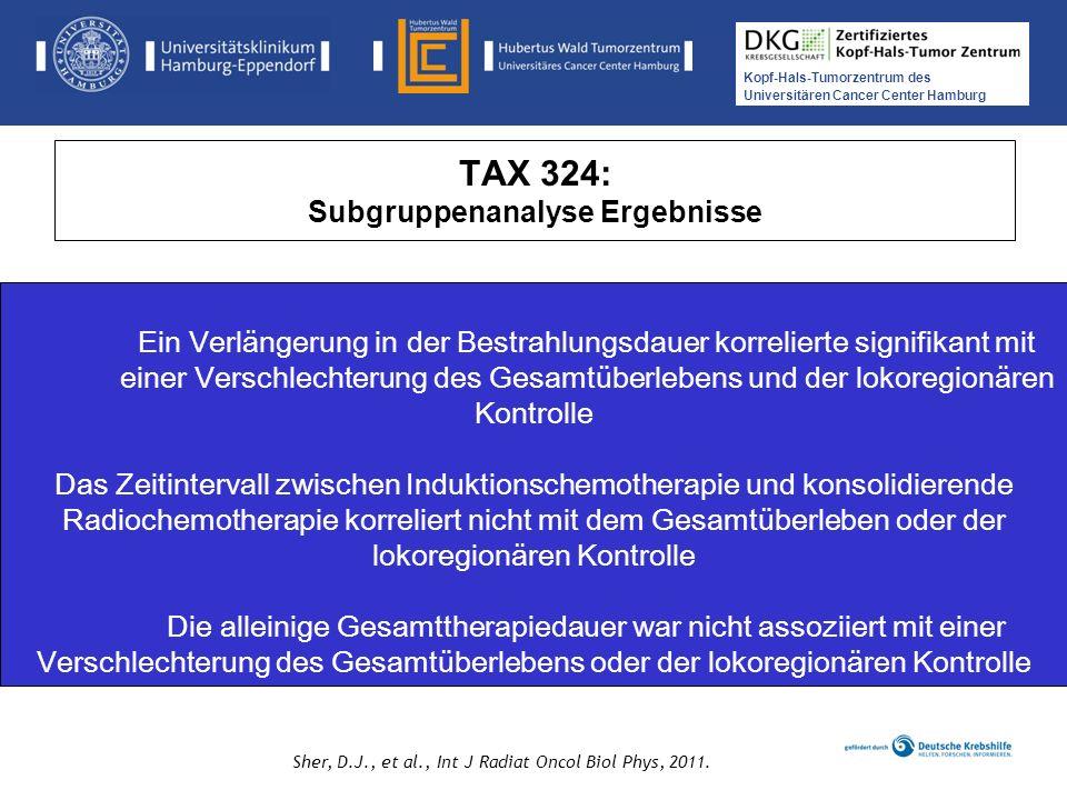 TAX 324: Subgruppenanalyse Ergebnisse