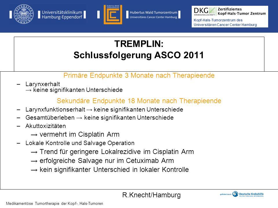 TREMPLIN: Schlussfolgerung ASCO 2011