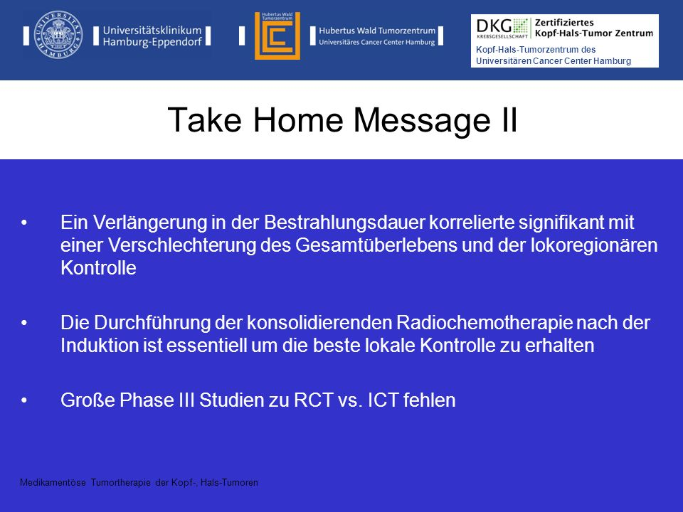 Take Home Message II