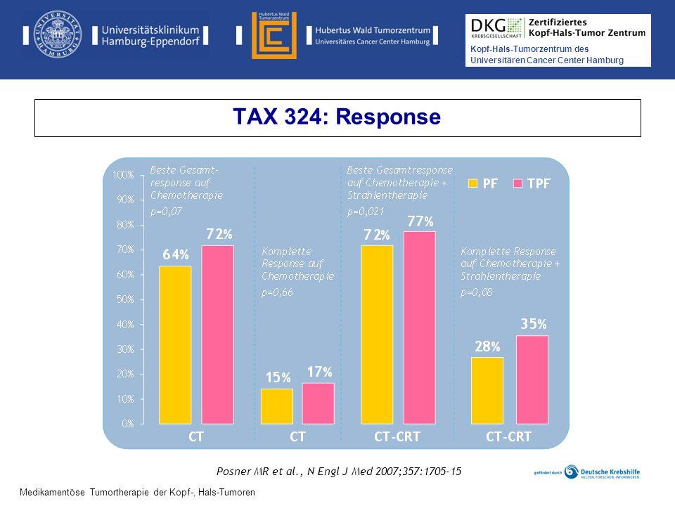TAX 324: Response Posner MR et al., N Engl J Med 2007;357:1705-15