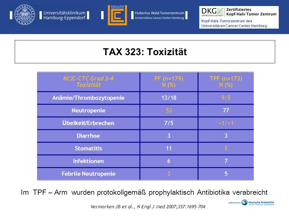 NCIC-CTC Grad 3-4 Toxizität Anämie/Thrombozytopenie
