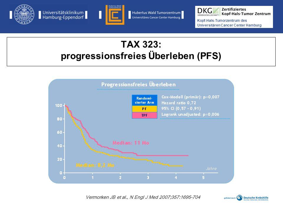 TAX 323: progressionsfreies Überleben (PFS)