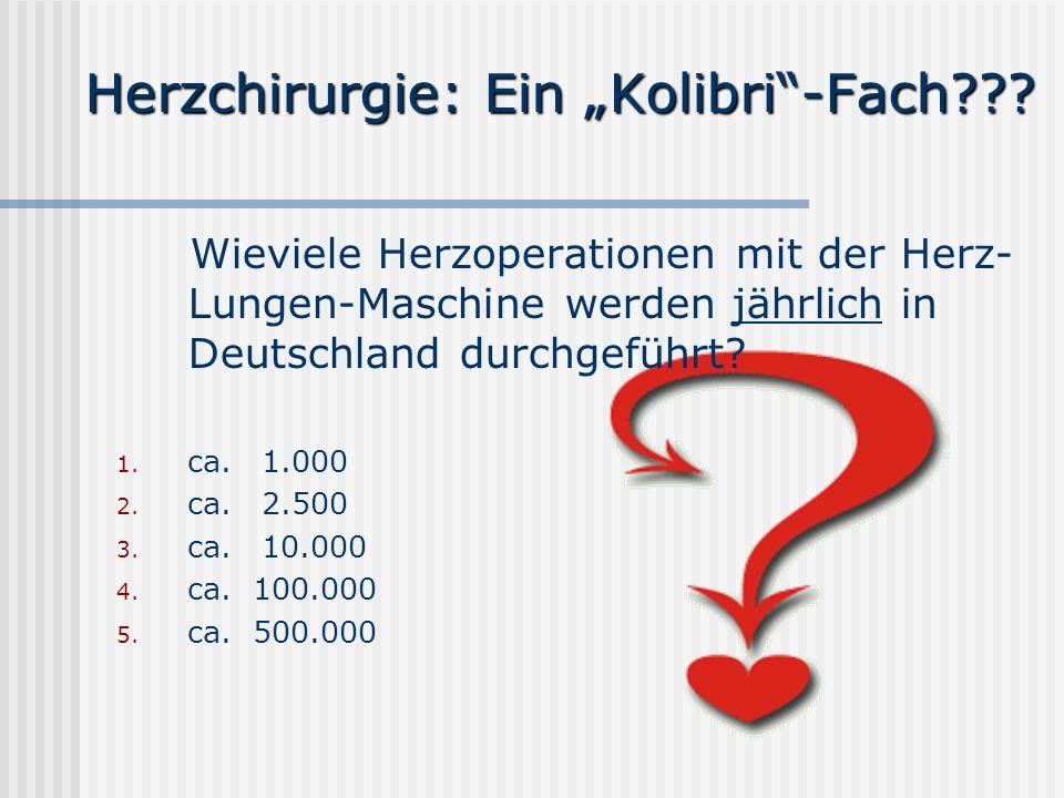 """Herzchirurgie: Ein """"Kolibri -Fach"""