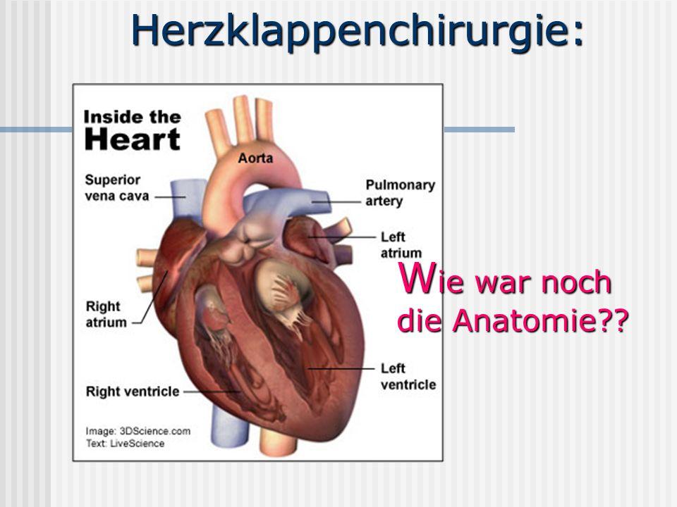 Herzklappenchirurgie: