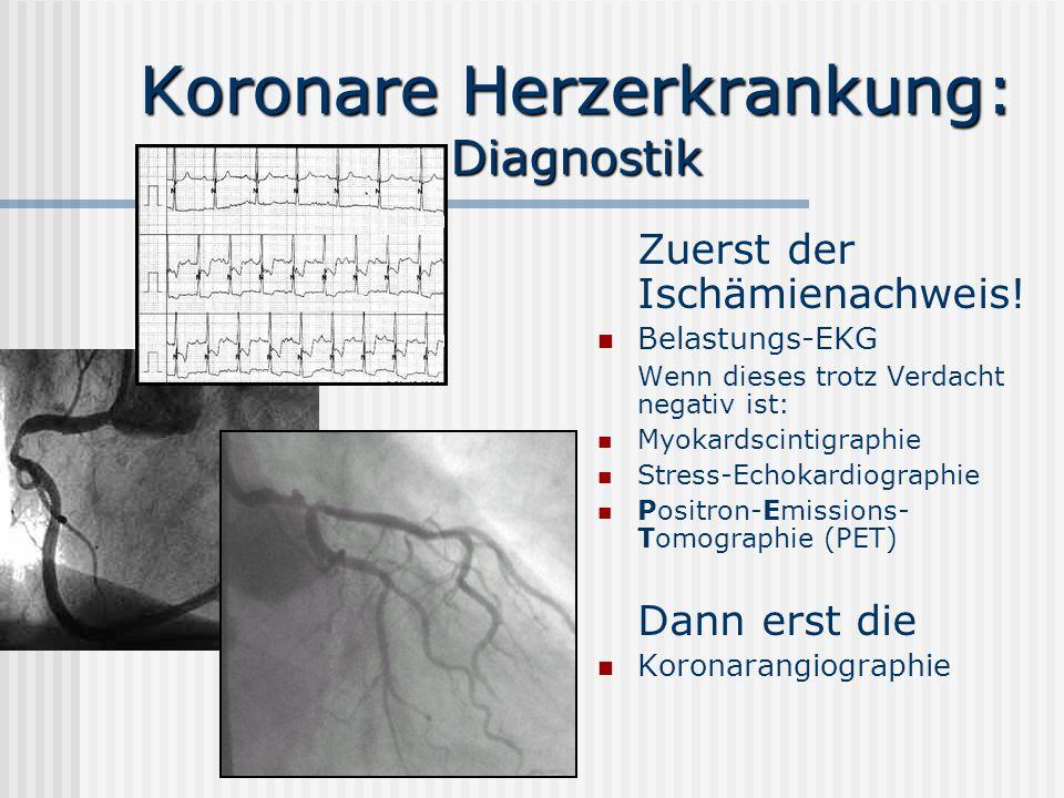 Koronare Herzerkrankung: Diagnostik