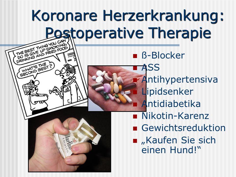 Koronare Herzerkrankung: Postoperative Therapie