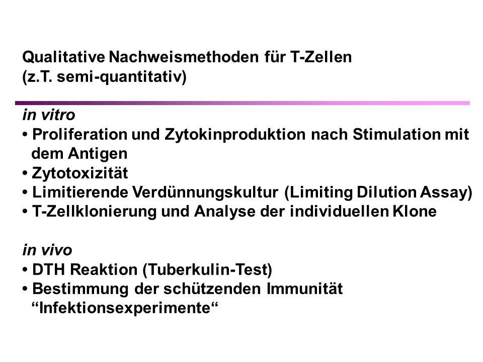 Qualitative Nachweismethoden für T-Zellen