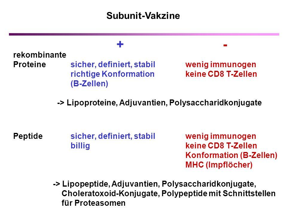 + - Subunit-Vakzine rekombinante