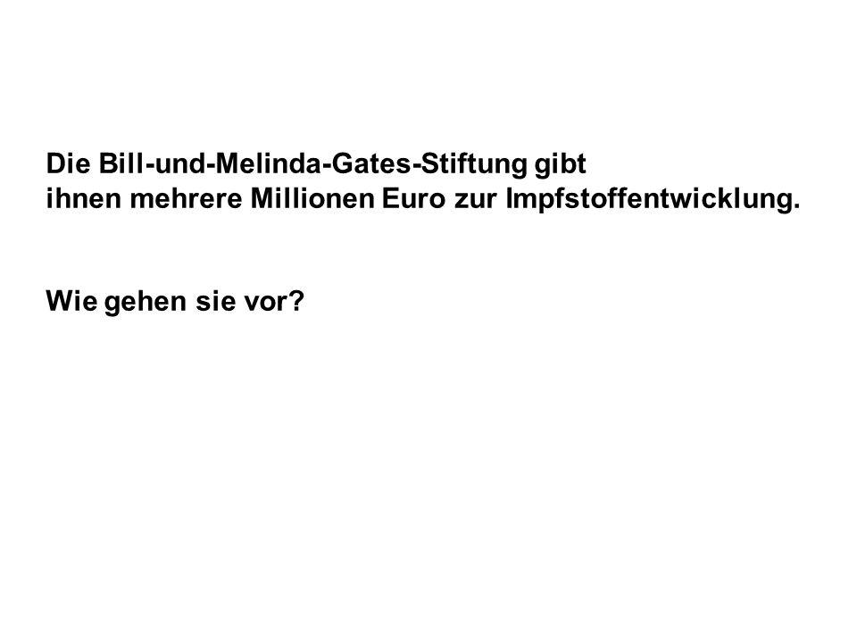 Die Bill-und-Melinda-Gates-Stiftung gibt