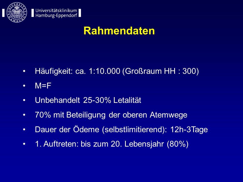 Rahmendaten Häufigkeit: ca. 1:10.000 (Großraum HH : 300) M=F