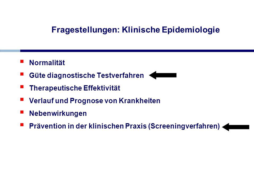 Fragestellungen: Klinische Epidemiologie