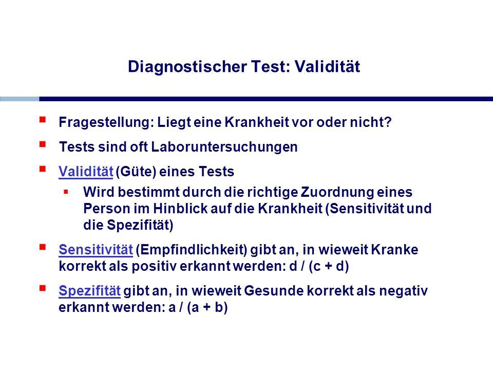 Diagnostischer Test: Validität
