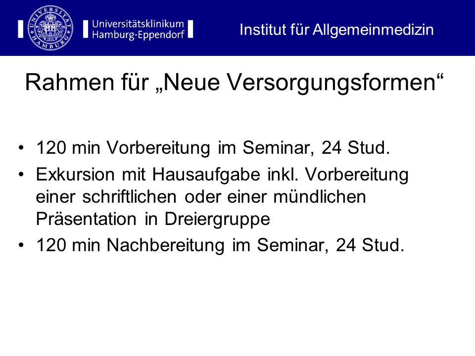 """Rahmen für """"Neue Versorgungsformen"""