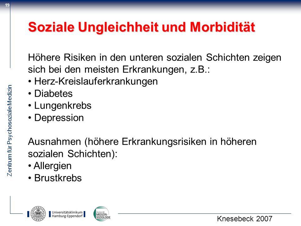 Soziale Ungleichheit und Morbidität
