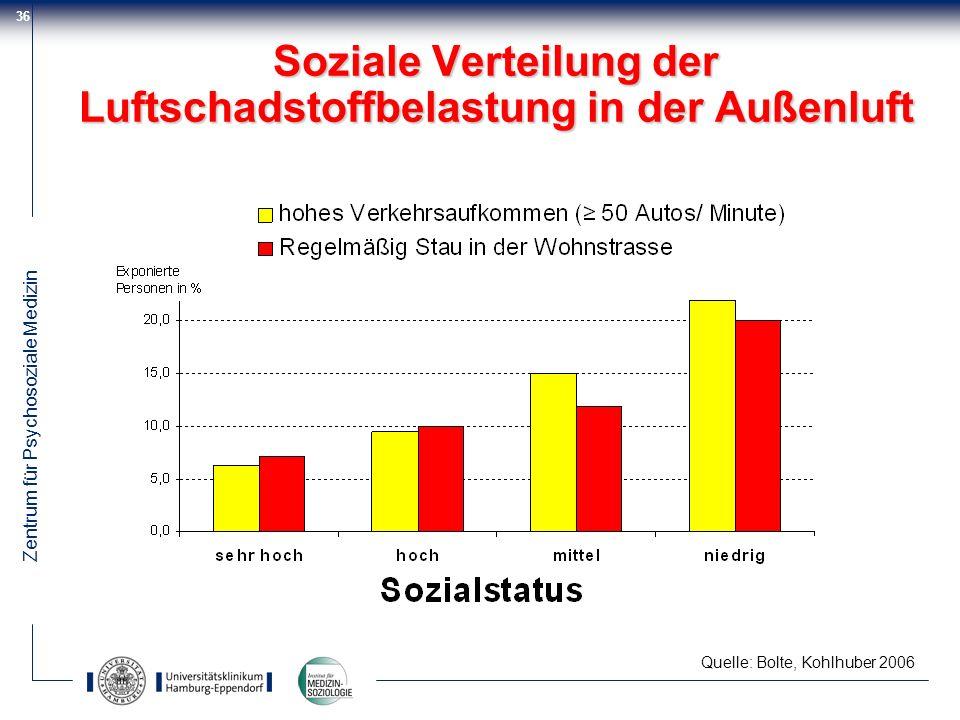 Soziale Verteilung der Luftschadstoffbelastung in der Außenluft