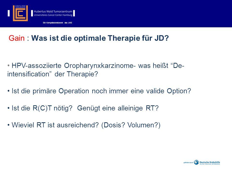 Gain : Was ist die optimale Therapie für JD