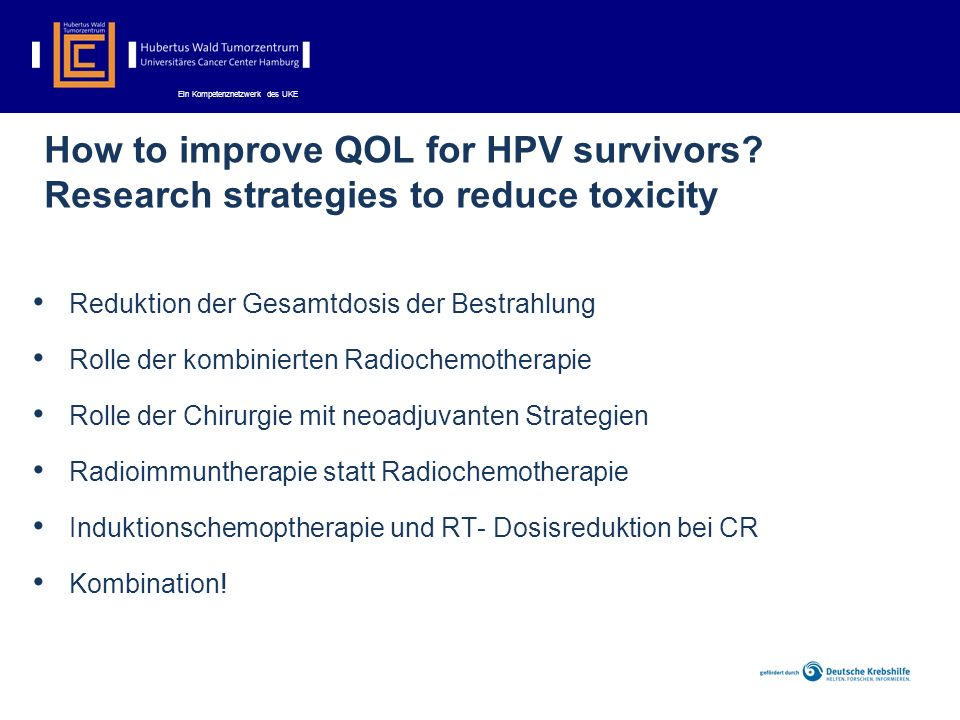 How to improve QOL for HPV survivors