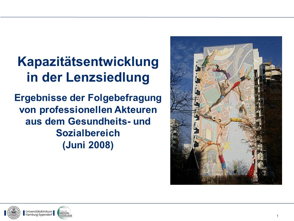Kapazitätsentwicklung in der Lenzsiedlung Ergebnisse der Folgebefragung von professionellen Akteuren aus dem Gesundheits- und Sozialbereich (Juni 2008)