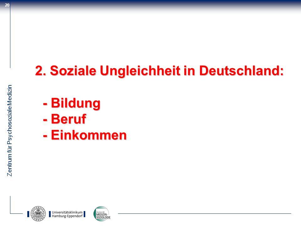 2. Soziale Ungleichheit in Deutschland: