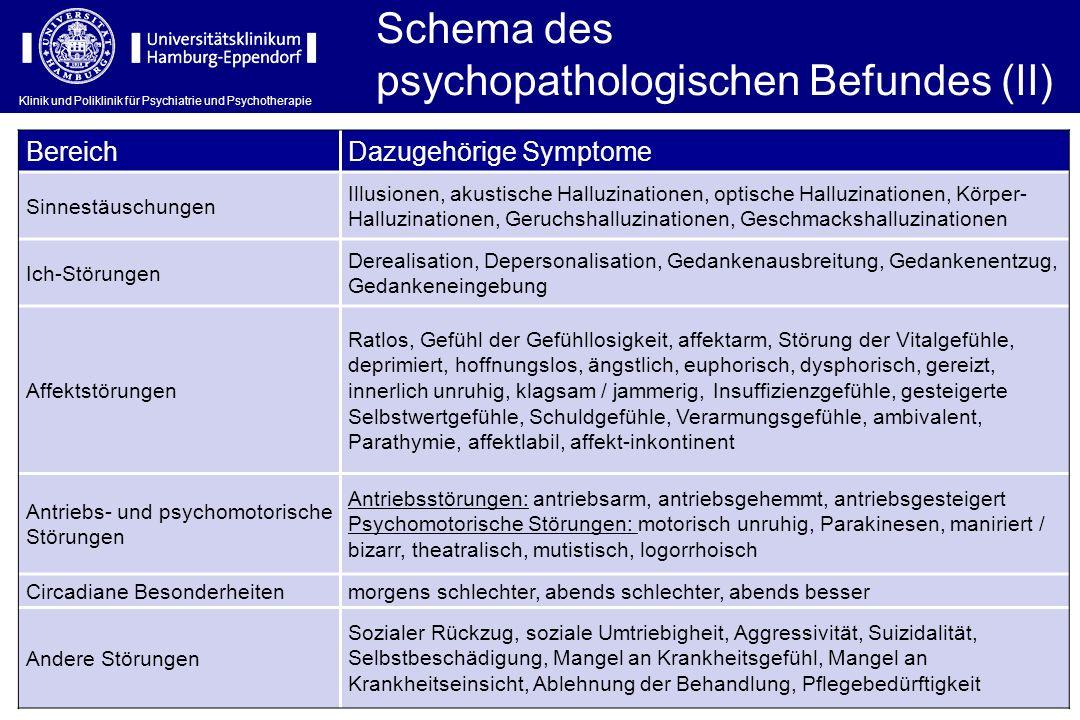 psychopathologischen Befundes (II)
