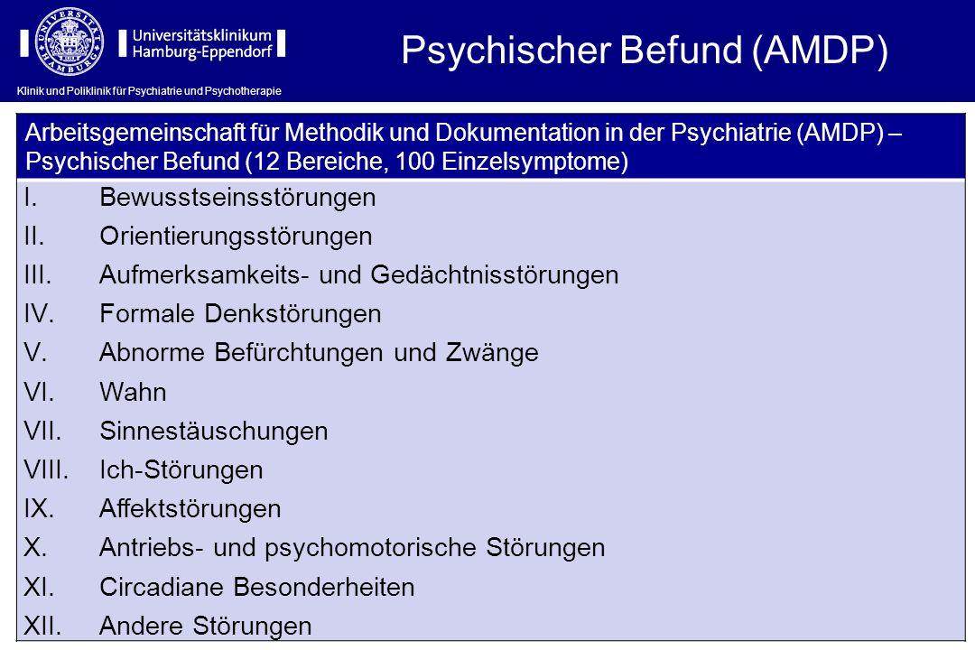 Psychischer Befund (AMDP)