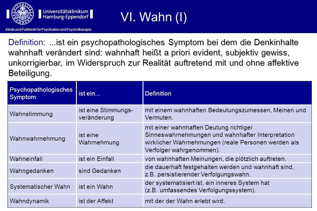 VI. Wahn (I)