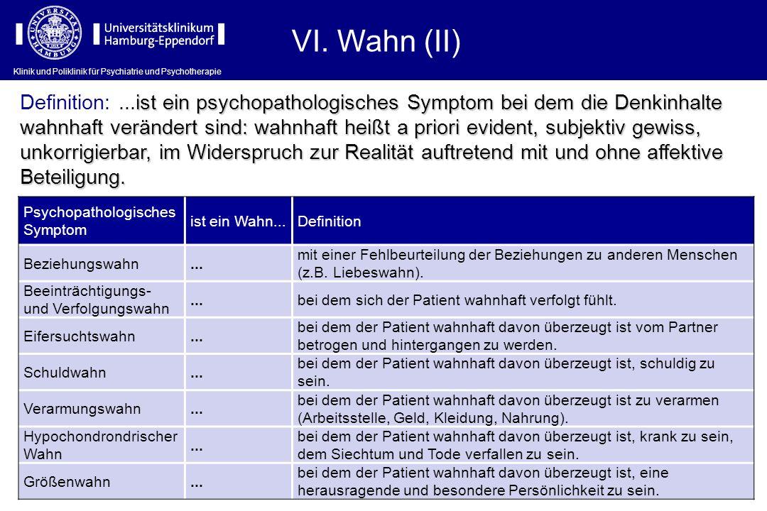 VI. Wahn (II)