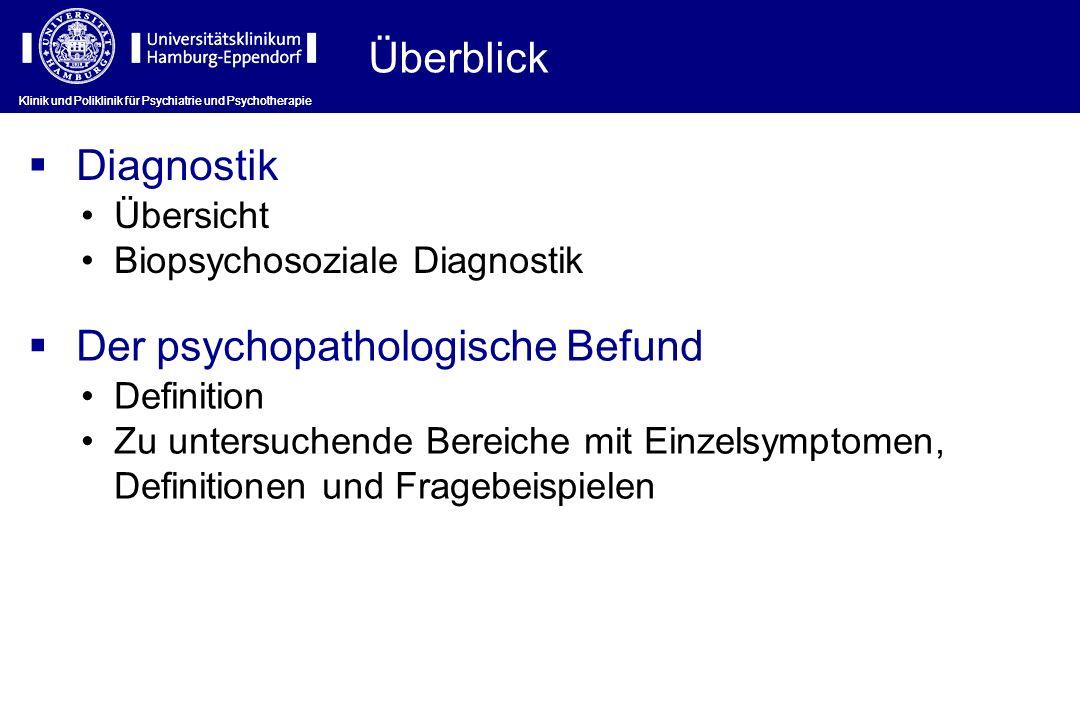 Der psychopathologische Befund