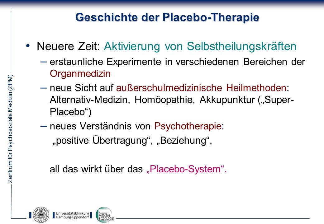 Geschichte der Placebo-Therapie