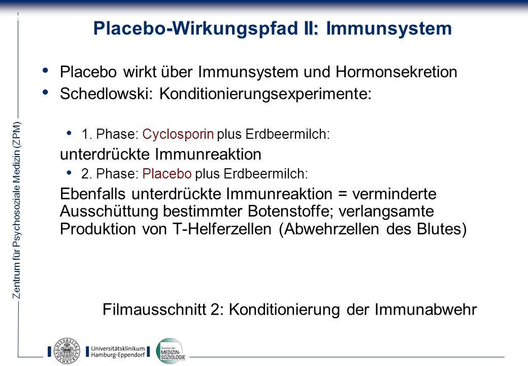 Placebo-Wirkungspfad II: Immunsystem