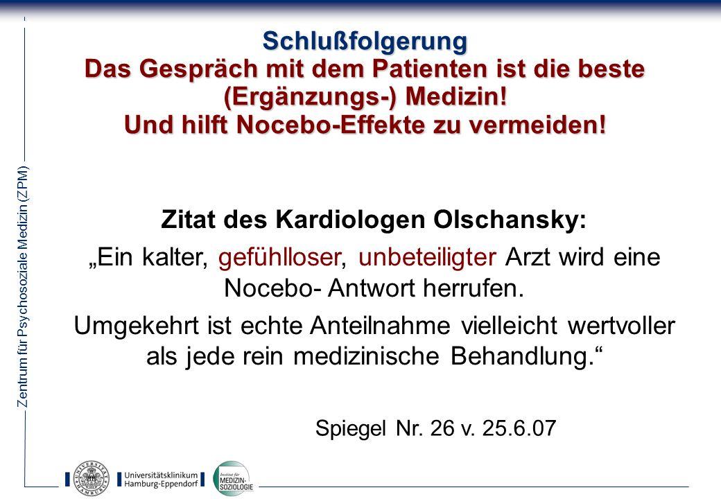 Zitat des Kardiologen Olschansky: