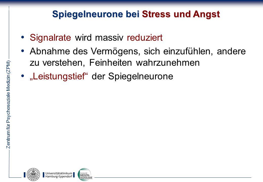Spiegelneurone bei Stress und Angst
