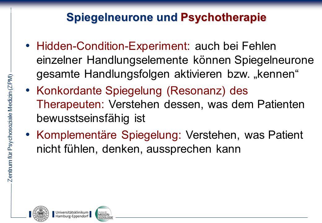 Spiegelneurone und Psychotherapie