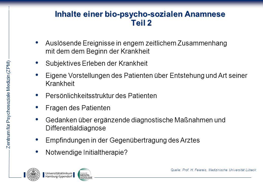 Inhalte einer bio-psycho-sozialen Anamnese Teil 2