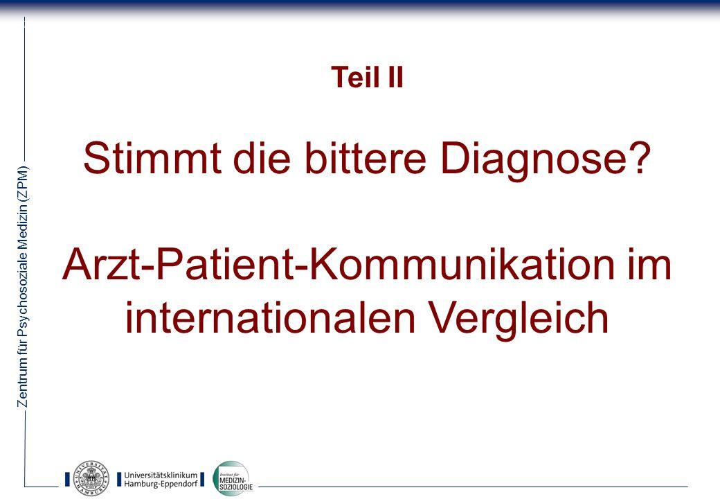 Stimmt die bittere Diagnose Arzt-Patient-Kommunikation im