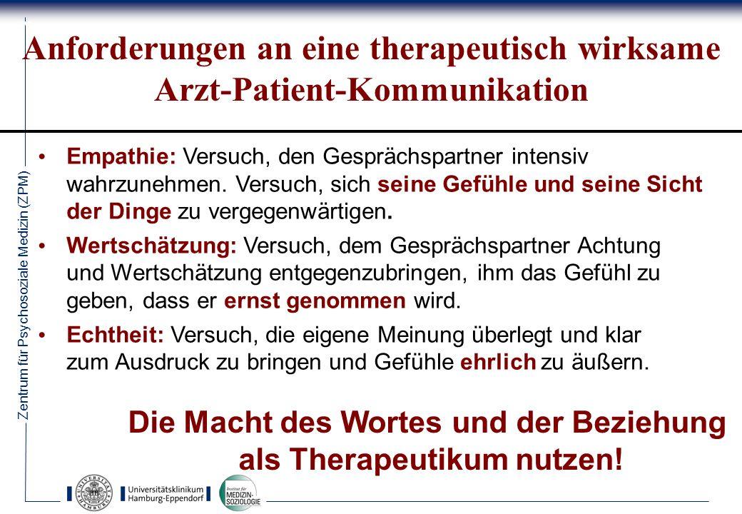 Die Macht des Wortes und der Beziehung als Therapeutikum nutzen!