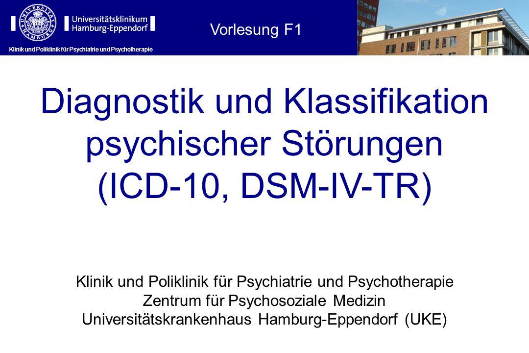 Diagnostik und Klassifikation psychischer Störungen