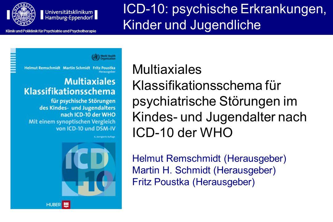 ICD-10: psychische Erkrankungen, Kinder und Jugendliche