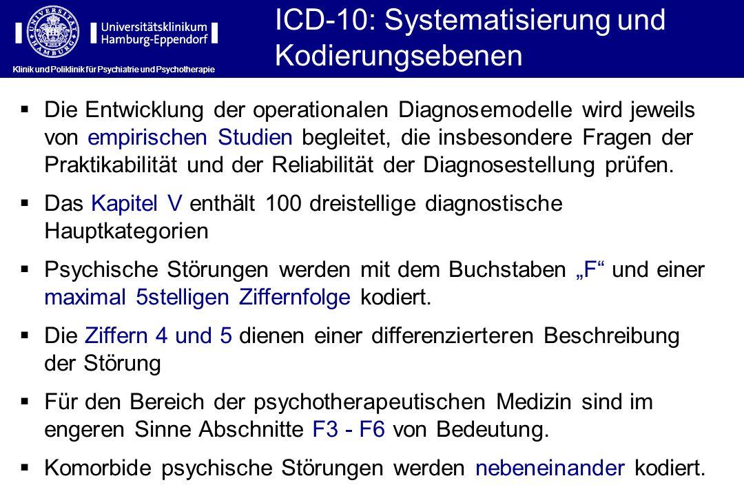ICD-10: Systematisierung und Kodierungsebenen