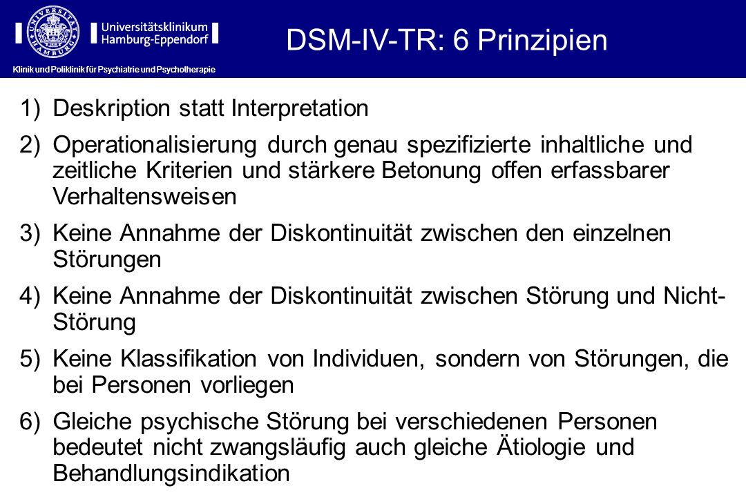 DSM-IV-TR: 6 Prinzipien