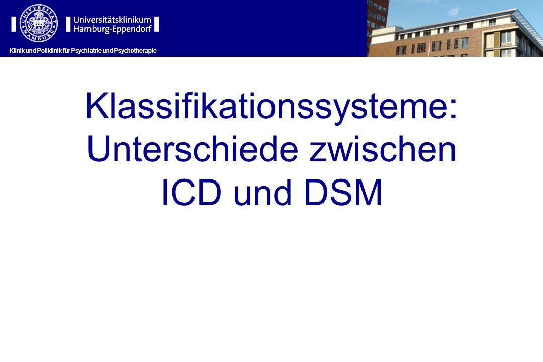 Klassifikationssysteme: Unterschiede zwischen ICD und DSM