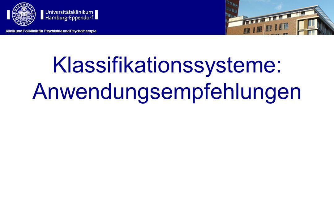 Klassifikationssysteme: Anwendungsempfehlungen