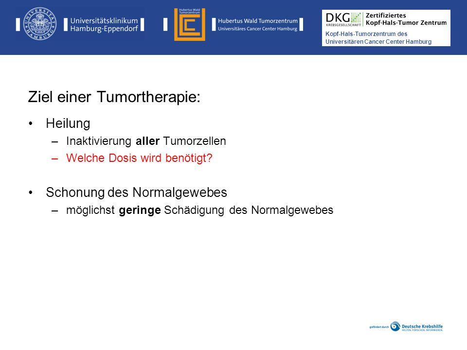 Ziel einer Tumortherapie: