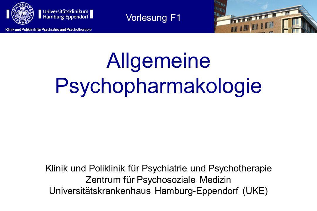 Allgemeine Psychopharmakologie Vorlesung F1