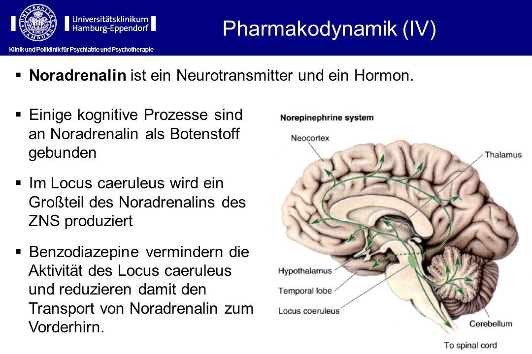 Pharmakodynamik (IV) Klinik und Poliklinik für Psychiatrie und Psychotherapie. Noradrenalin ist ein Neurotransmitter und ein Hormon.