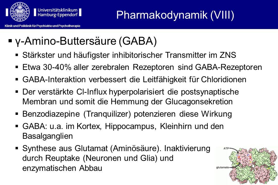 Pharmakodynamik (VIII)