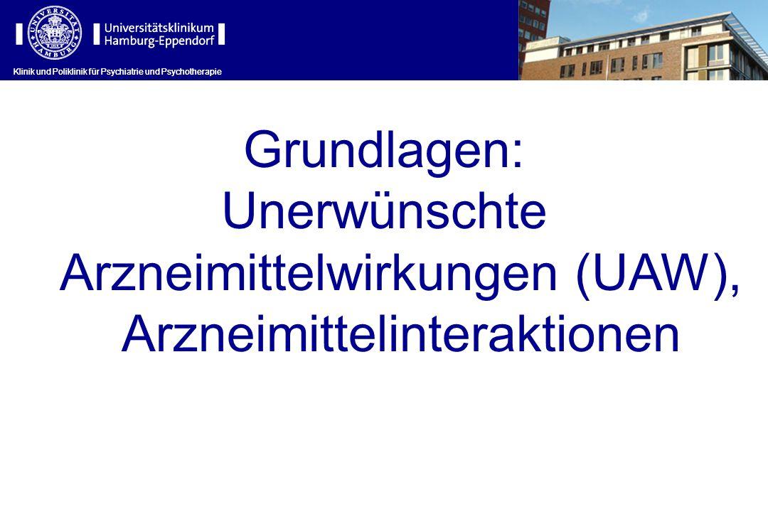 Unerwünschte Arzneimittelwirkungen (UAW), Arzneimittelinteraktionen