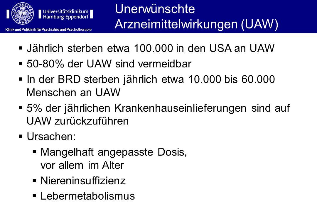 Unerwünschte Arzneimittelwirkungen (UAW)