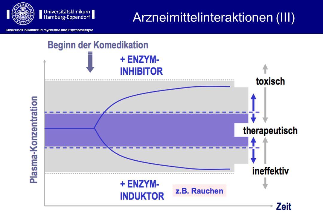 Arzneimittelinteraktionen (III)